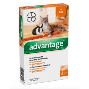 Advantage АДВЕНТИДЖ котка до 4кг -  1 пипета