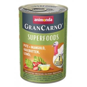 GranCarno Superfoods - консерва за кучета с един източник на протеин плюс подбрани суперхрани, 400гр /цена за стек/