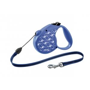 【 Flexi Flamingo Special Edition М въже】- автоматичен повод за кучета до 20 кг, 5 метра
