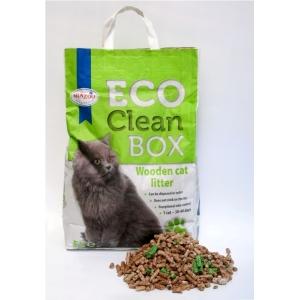 Биоразградима постелка за котешка тоалетна Eco Clean Box от дървесни фибри