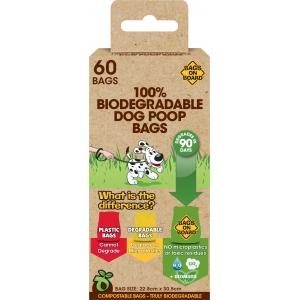 Bags on Board Биоразградими торбички за кучешки отпадъци, 4 х 15бр