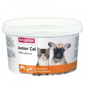 Калций на прах за кученца и котенца Beaphar Junior Cal, 200 гр