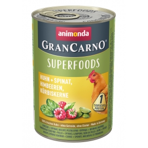 GranCarno Superfoods - консерва за кучета с един източник на протеин плюс подбрани суперхрани, 400гр