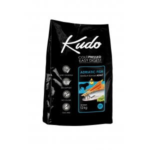 Kudo Low Grain Adriatic Fish Meduim-Maxi Adult - храна за кучета от всички породи над 1 год