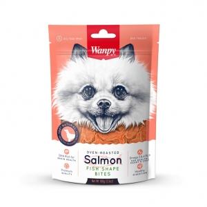 Лакомство за куче Wanpy Salmon Fish Shape Bites, 100 гр