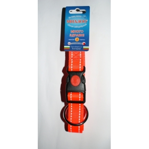 Нашийници Спорт + в ярко оранжево със светлоотразителни нишки + заключващ механизъм