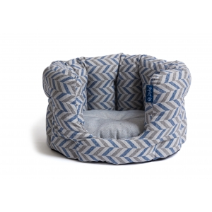Project Blu Danube Сat - легло за котки, синьо шеврон 55х50х25