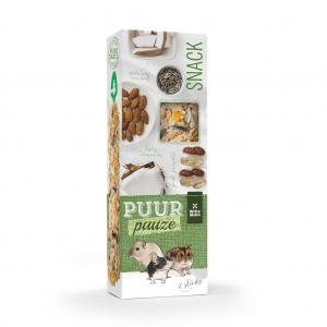 Puur Pauze Sticks лакомство за гризачи с бадем и фъстък, 110гр