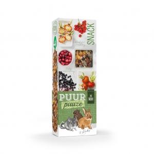 Puur Pauze Sticks лакомство за гризачи с червена боровинка и бъз, 110гр
