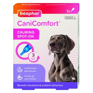 Успокояващи капки с феромони за кучета CaniComfort Calming Spot On, Beaphar