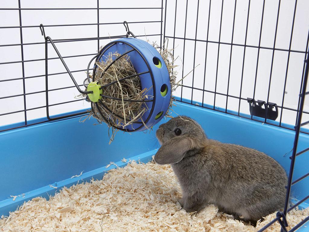 Играчка и хранилка 2 в 1 Bunny Toy за сено + отделение за снаксове