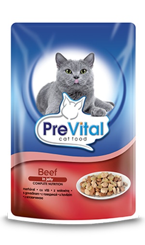 PreVital паучове за котка, различни вкусове, 100гр