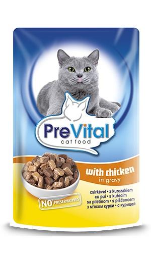 PreVital паучове за котка, различни вкусове (цена за стек - 0.96лв/бр), 100гр